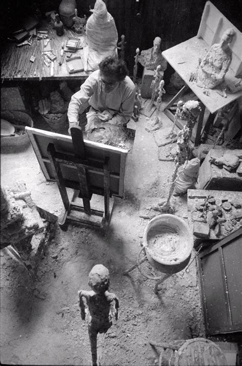Giacometti Painting in His Studio, 1965
