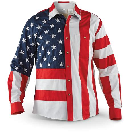 Scully Men's Red / White / Blue Americana Shirt - 137922