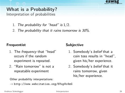 Review of probability calculus