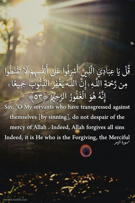 """Say, """"O my servants who have transgressed against"""