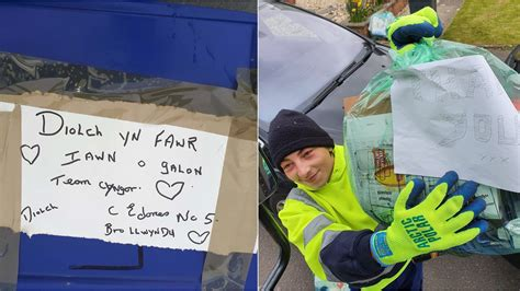 'Thank you' messages left for waste collection crews