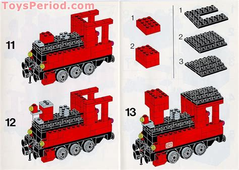 LEGO 7725 Electric Passenger Train Set Parts Inventory and