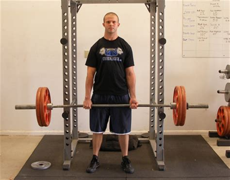 Barbell Shrug Trap Exercise